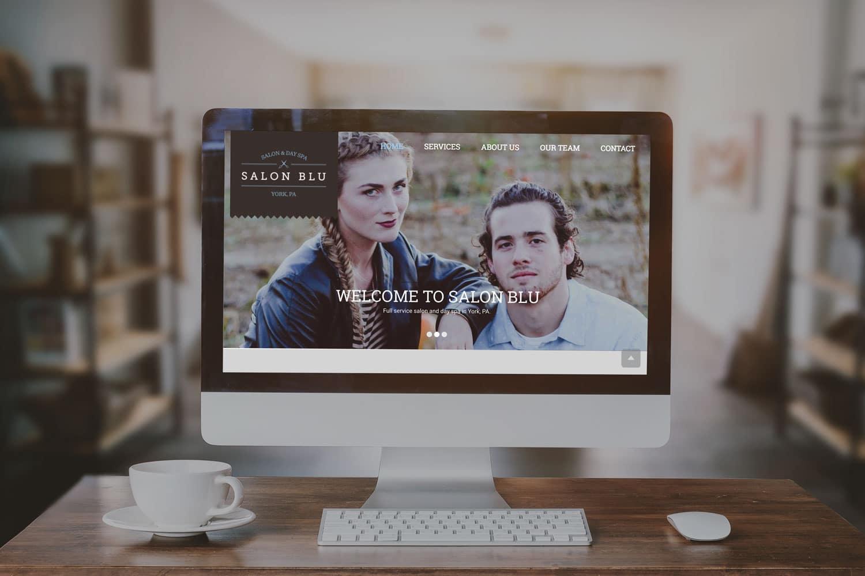 Salon Blu - York, PA - Website Design by SG, LLC