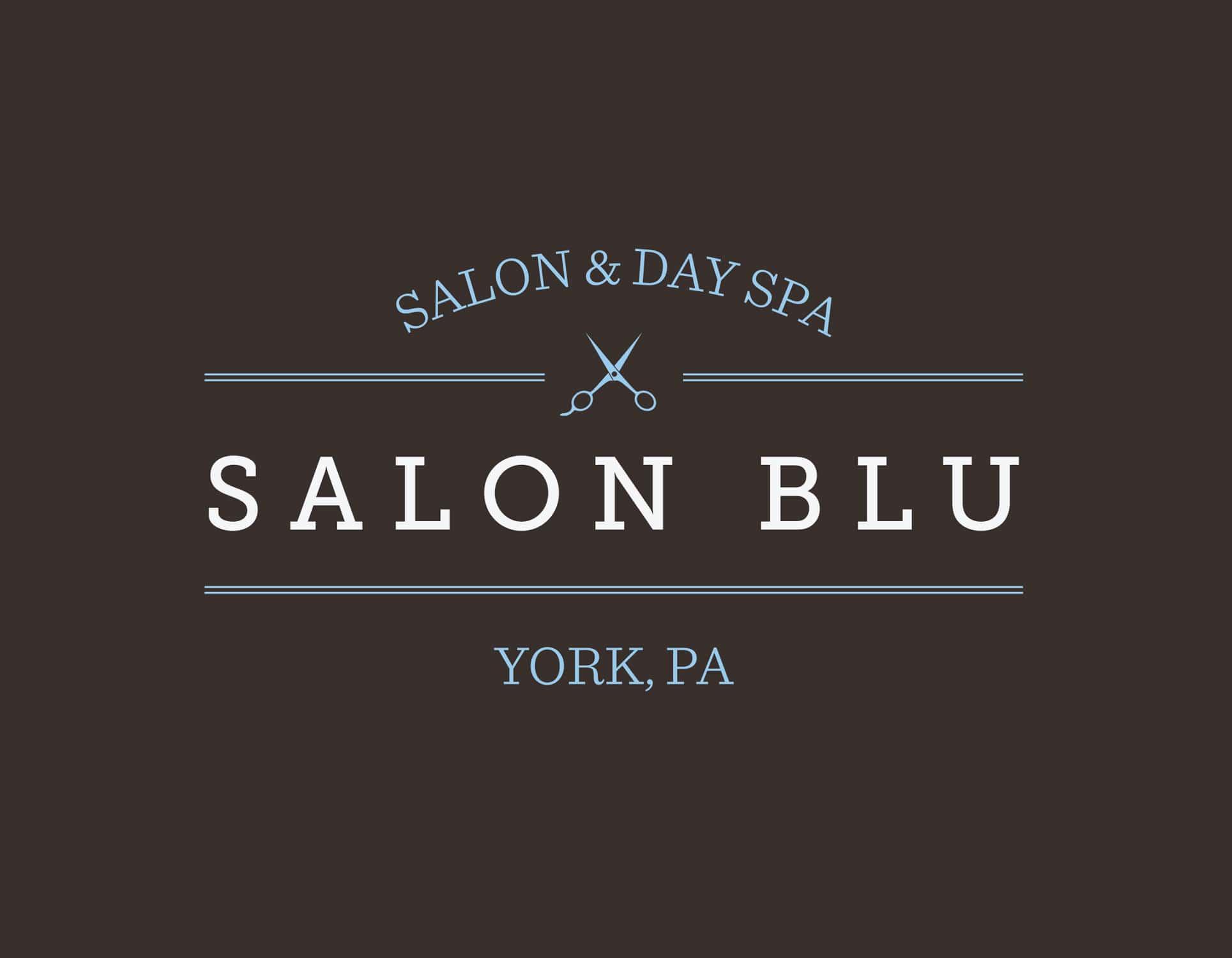 Salon Blu - York, PA - Logo Design by SG, LLC