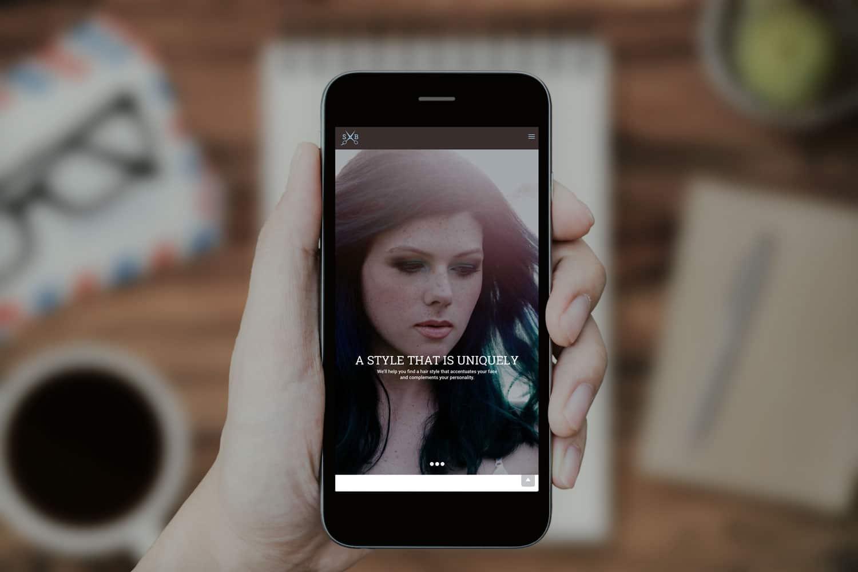 Salon Blu - York, PA - Mobile Website Design by SG, LLC