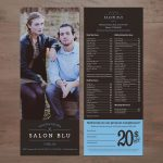 Salon Blu - York, PA - Price Card and Coupon Design by SG, LLC
