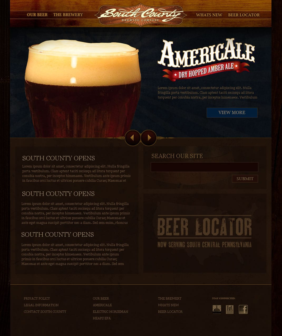 South County Brewing Company - Fawn Grove, PA - Wordpress Website Theme Design & Development by SG, LLC